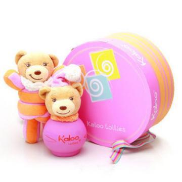 > 【kaloo】棒棒糖粉色小熊女香100ml礼盒