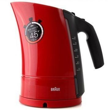 WK300 电热水壶 红色360度旋转底座附有电线储存盒,快速煮沸
